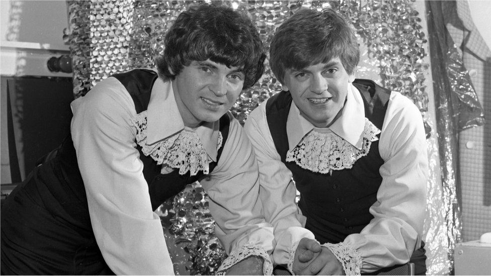 The Everly Brothers backstage at Top of the Pops.