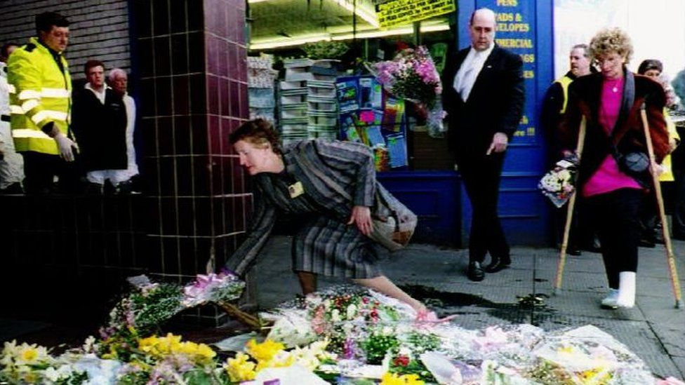 Tributes paid to the victims of the Warrington bomb in 1993