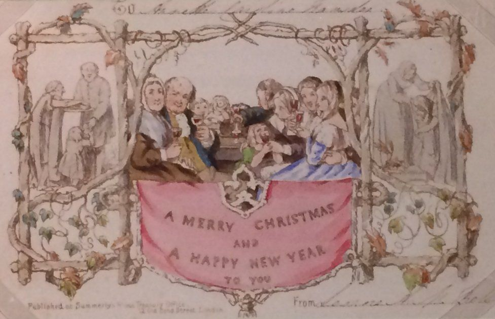 First commercial Christmas card