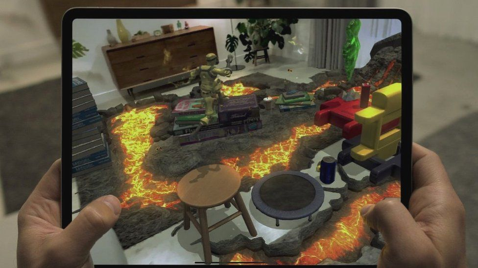 Augmented reality apps paint digital objects and scenery into real-world scenes on camera