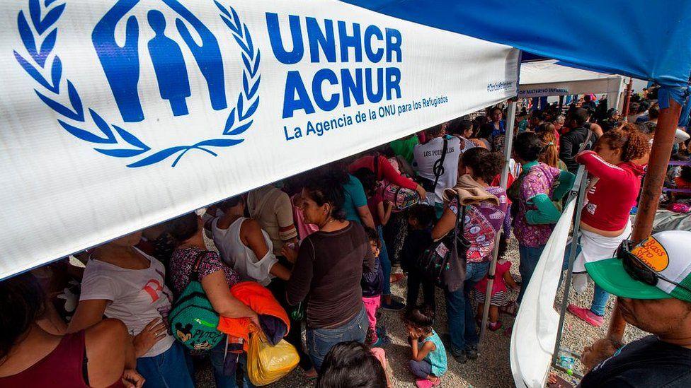 Venezuelan migrants apply for refugee status at the Peruvian border on June 14, 2019