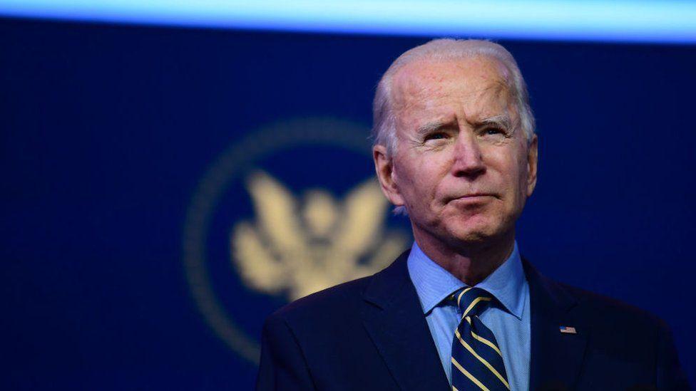 Joe Biden speaking in Delaware