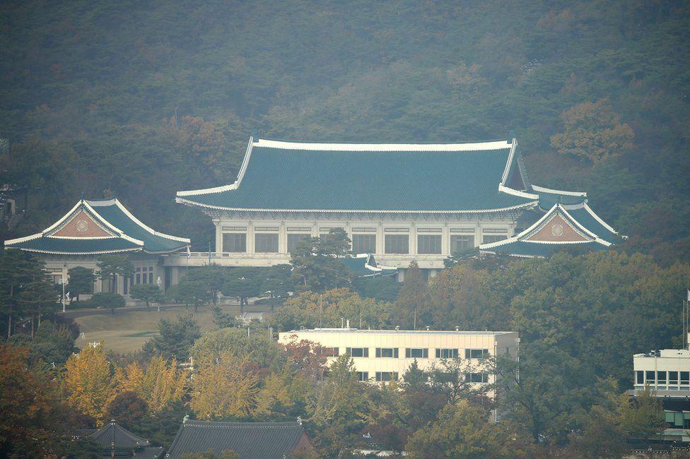 The Blue House in Seoul, 3 November