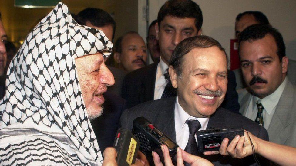 Yasser Arafat and Abdelaziz Bouteflika