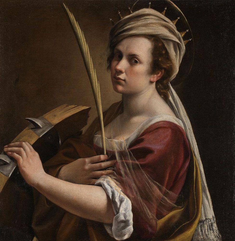 Self Portrait as Saint Catherine by Artemisia Gentileschi
