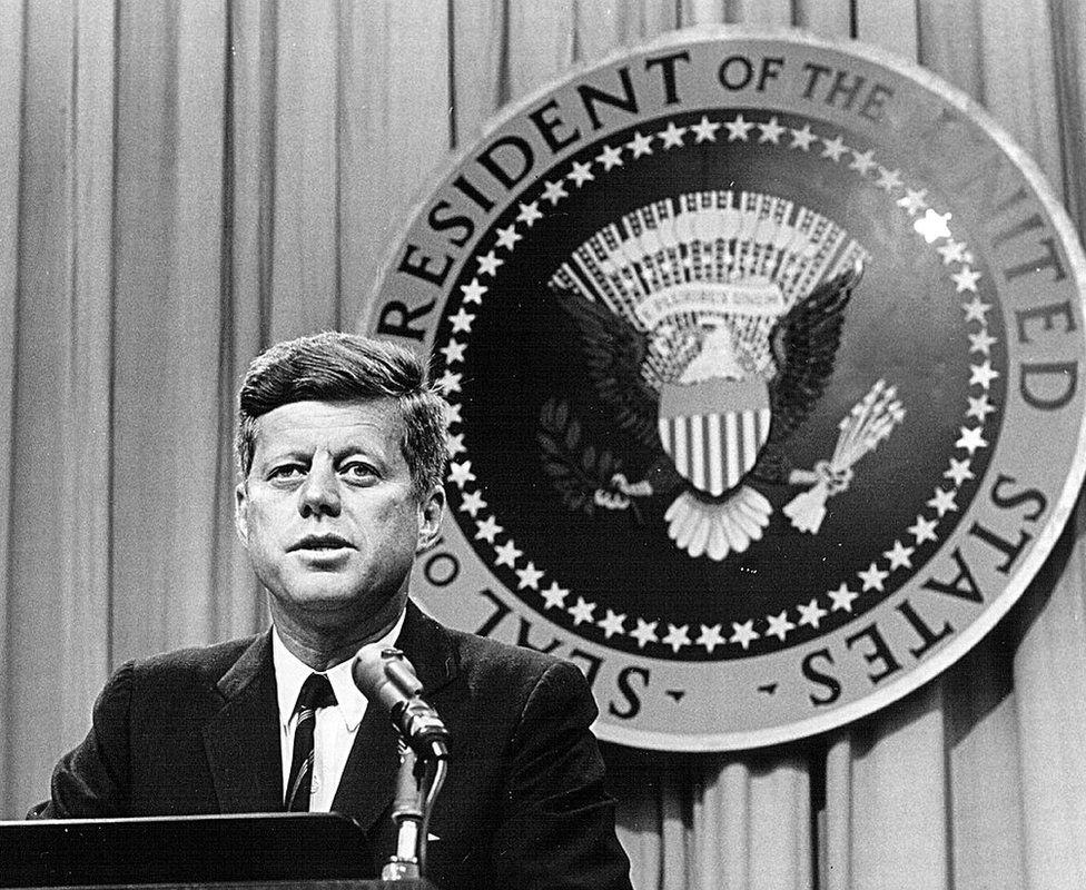 President Jack Kennedy, pictured in 1963