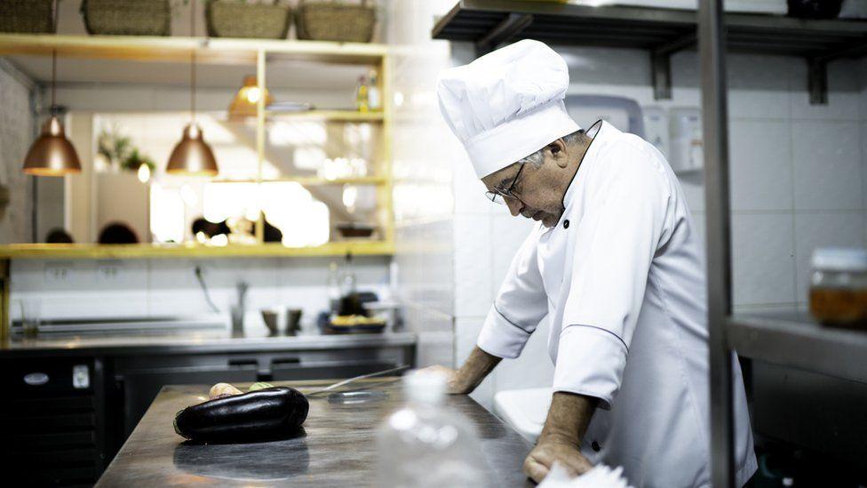 Chef looking despairing