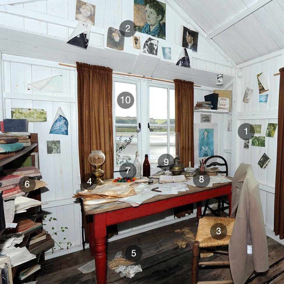 Dylan Thomas writing desk