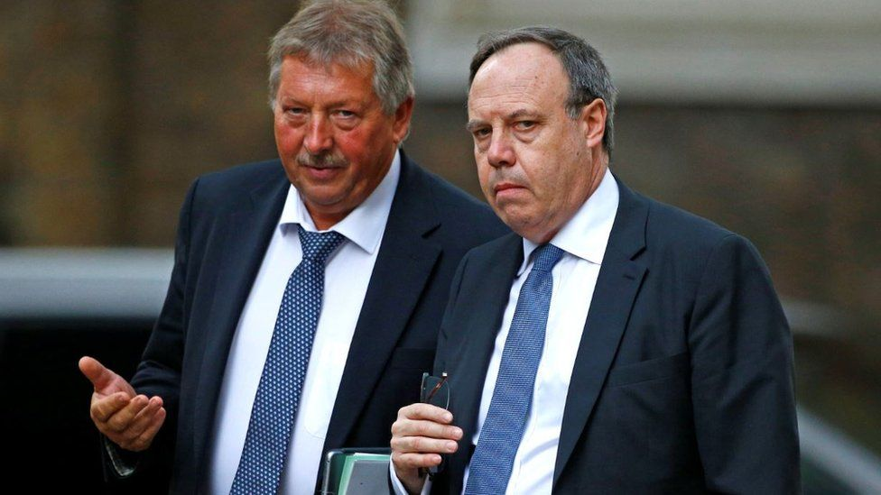 DUP MPs Sammy Wilson and Nigel Dodds