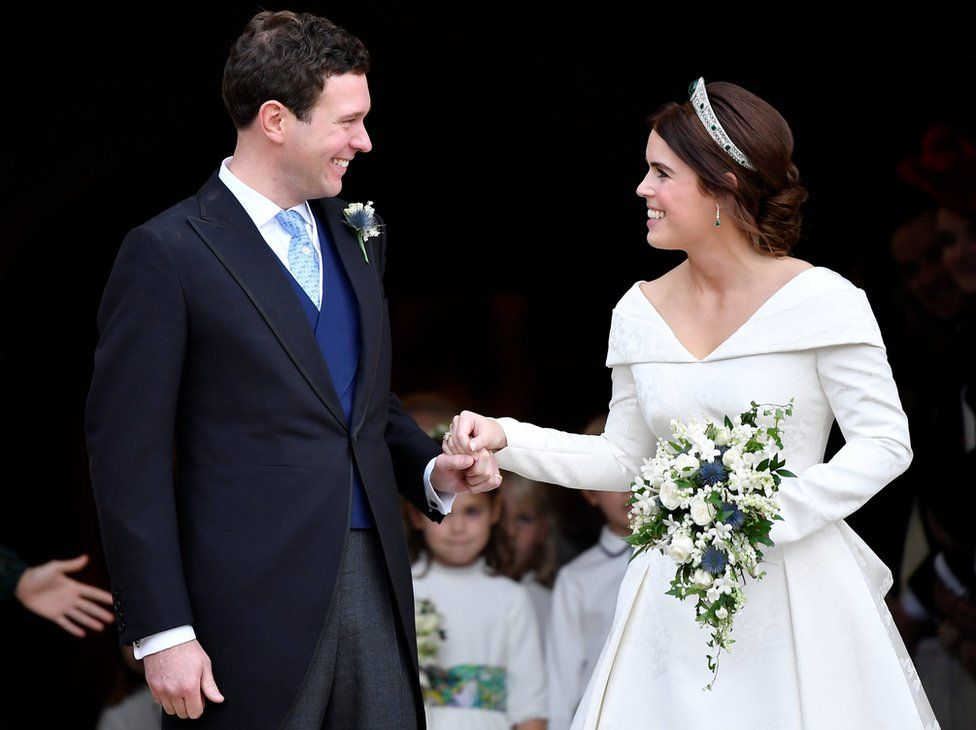 Princess Eugenie Wedding.Princess Eugenie Wedding In Pictures Splendid Hats And Gusts Of