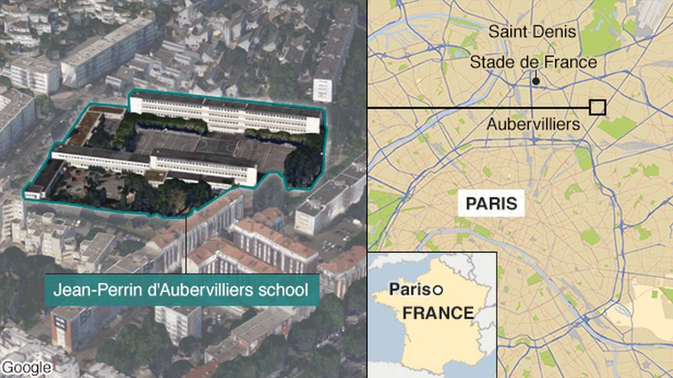 Map of Aubervilliers