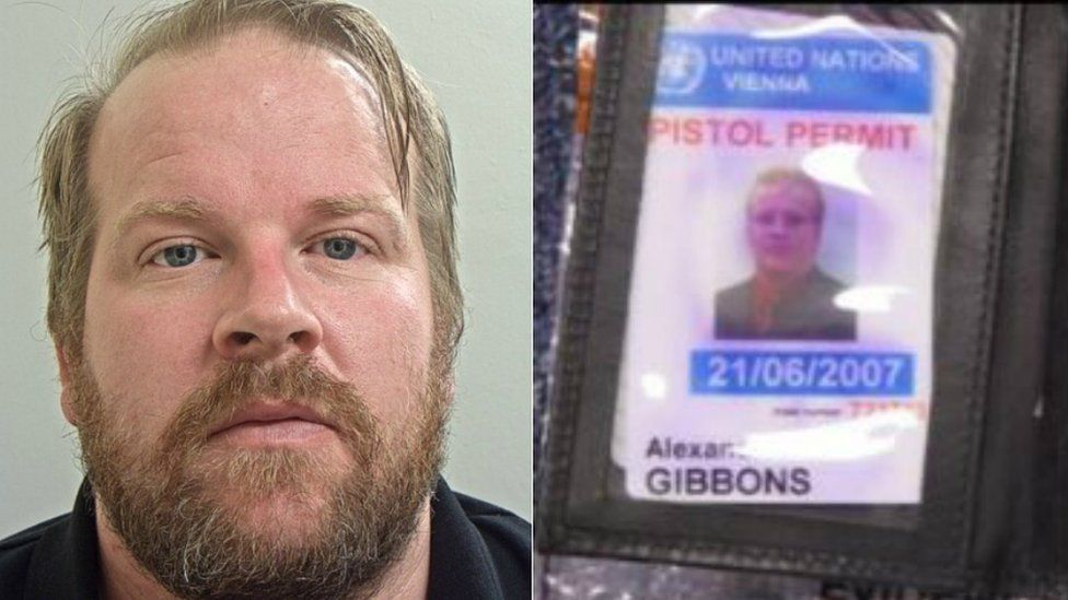 Alexander Gibbons and his fake UN security pistol permit