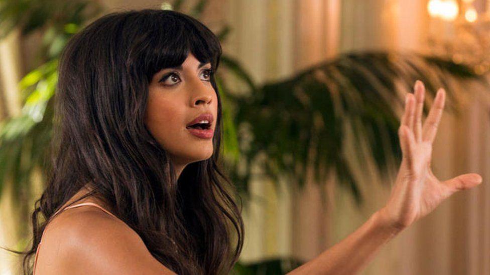 Jameela Jamil as Tahani on The Good Place