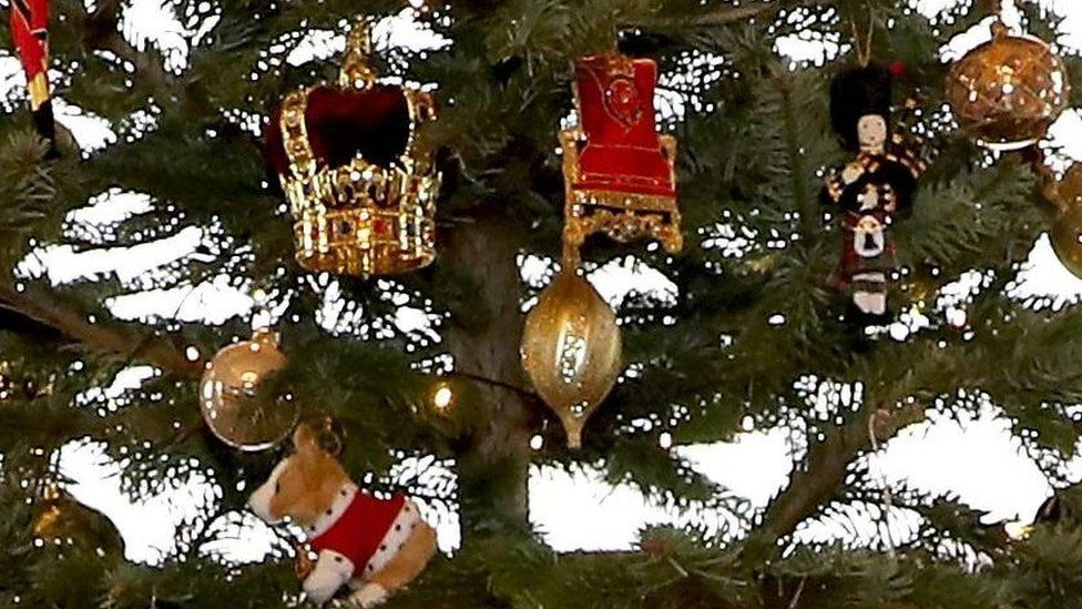 Close-up of the royal Christmas tree