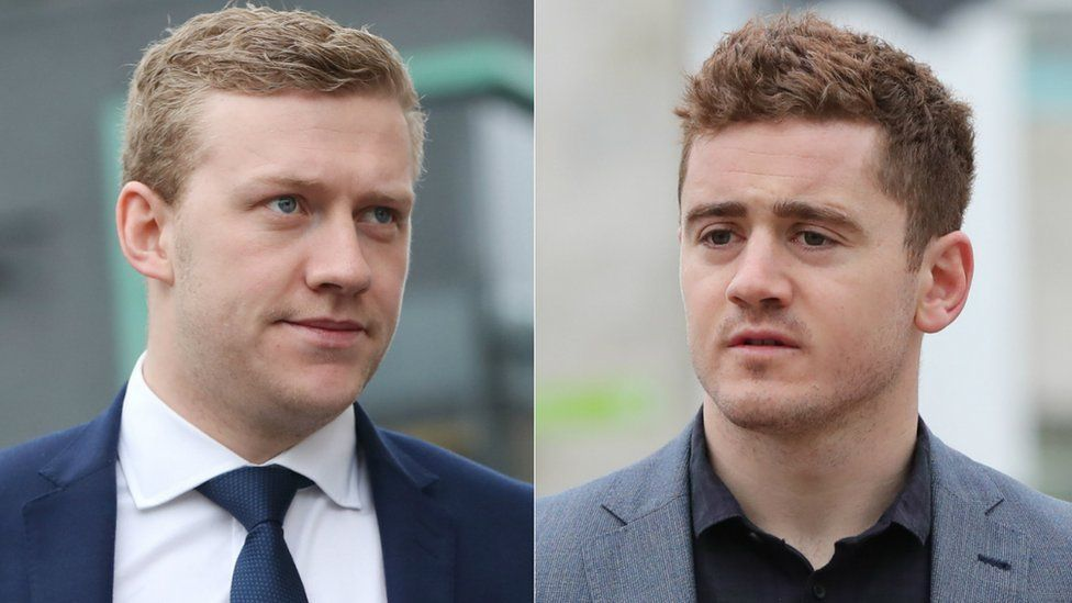 Stuart Olding and Paddy Jackson who were cleared of rape charges after a nine-week trial in Belfast.