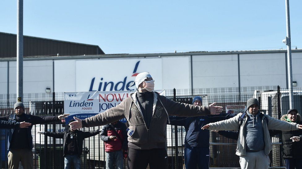 Workers at Linden Foods