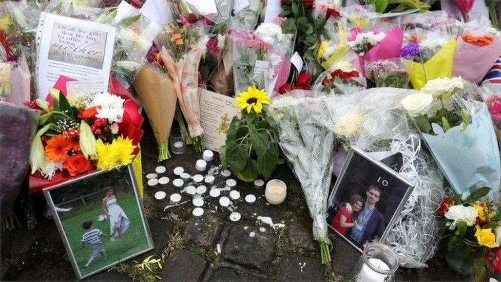 Floral tributes to Jo Cox