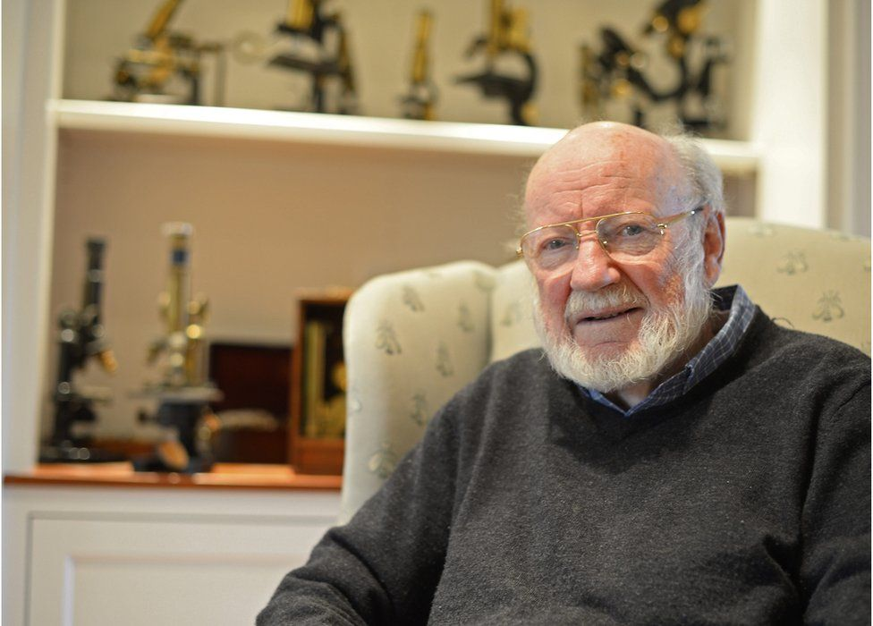 William C. Campbell, RISE associate with Drew University, at his home after the announcement that he won the 2015 Nobel Prize in Medicine, in North Andover, Massachusetts, USA, 5 October 2015.