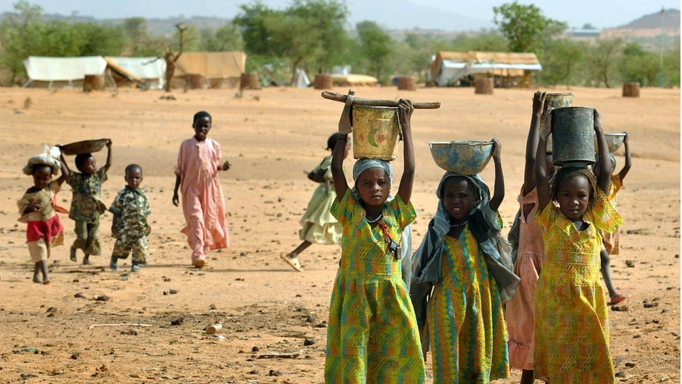 Sudanese refugees in Chad, 2008