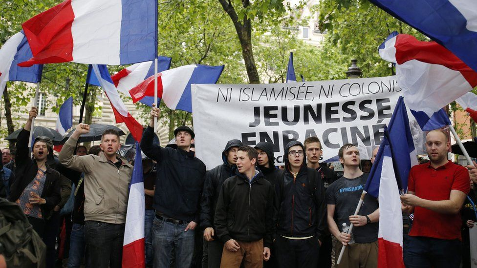 Generation identitaire demonstration in Paris, May 2016