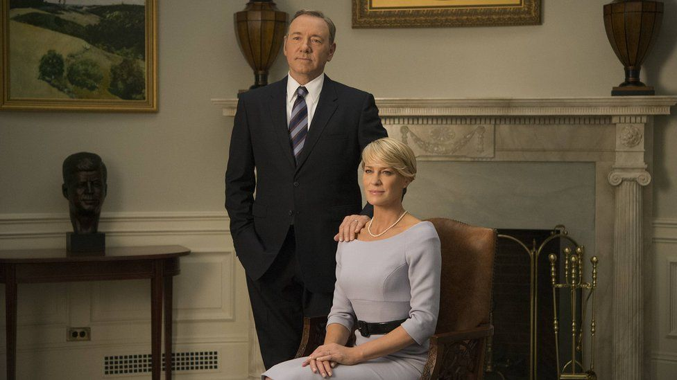Kevin Spacey and Robin Wright as Francis and Claire Underwood