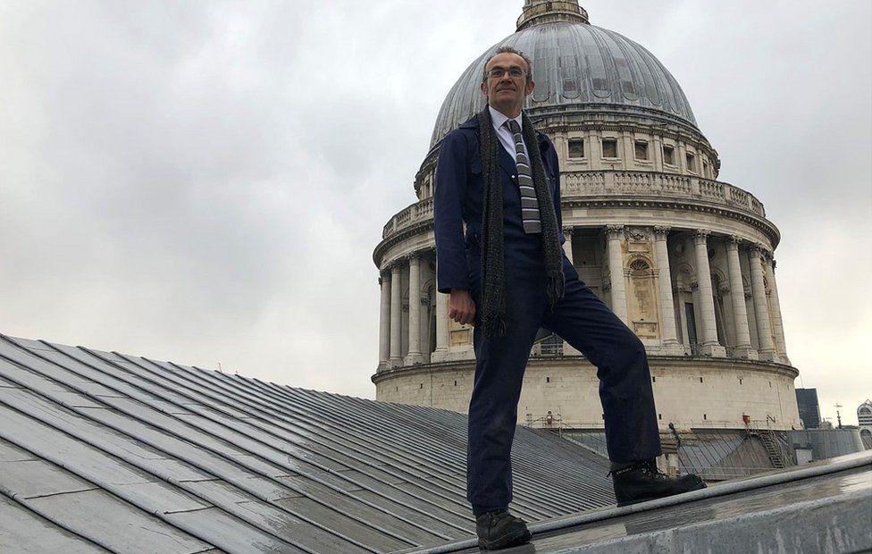 Oliver Caroe on roof