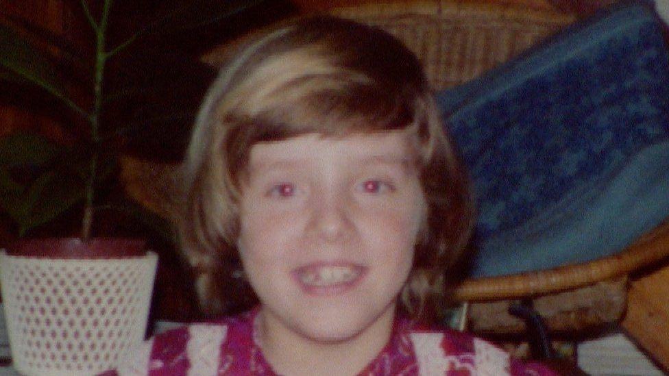 Sara Gillingham as a child