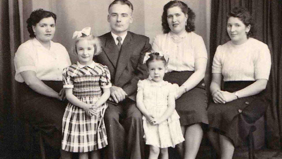 The Kudla family in a Belle Vue portrait