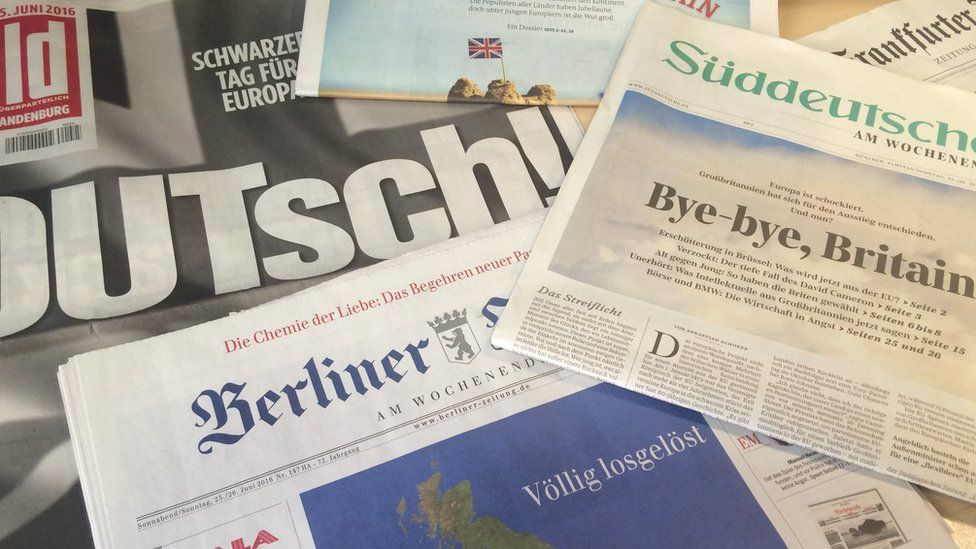 German newspapers react to Britain's vote to leave the EU