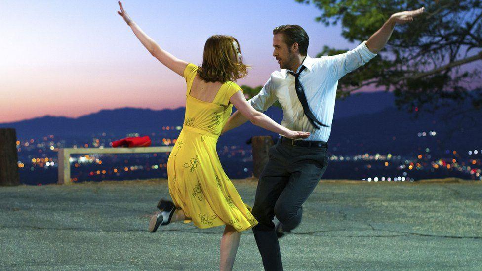 Emma Stone and Ryan Gosling n La La Land