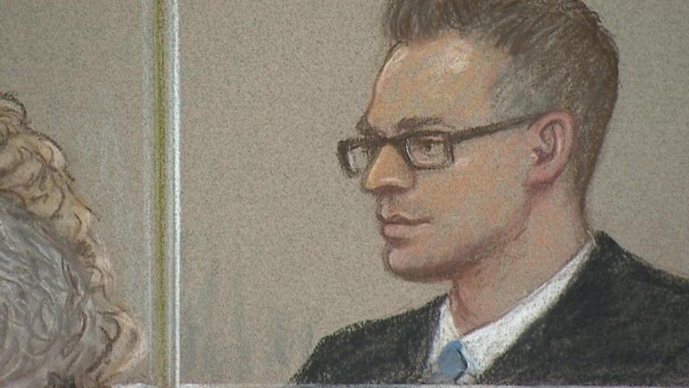Courtroom sketch of Matthew Scully-Hicks