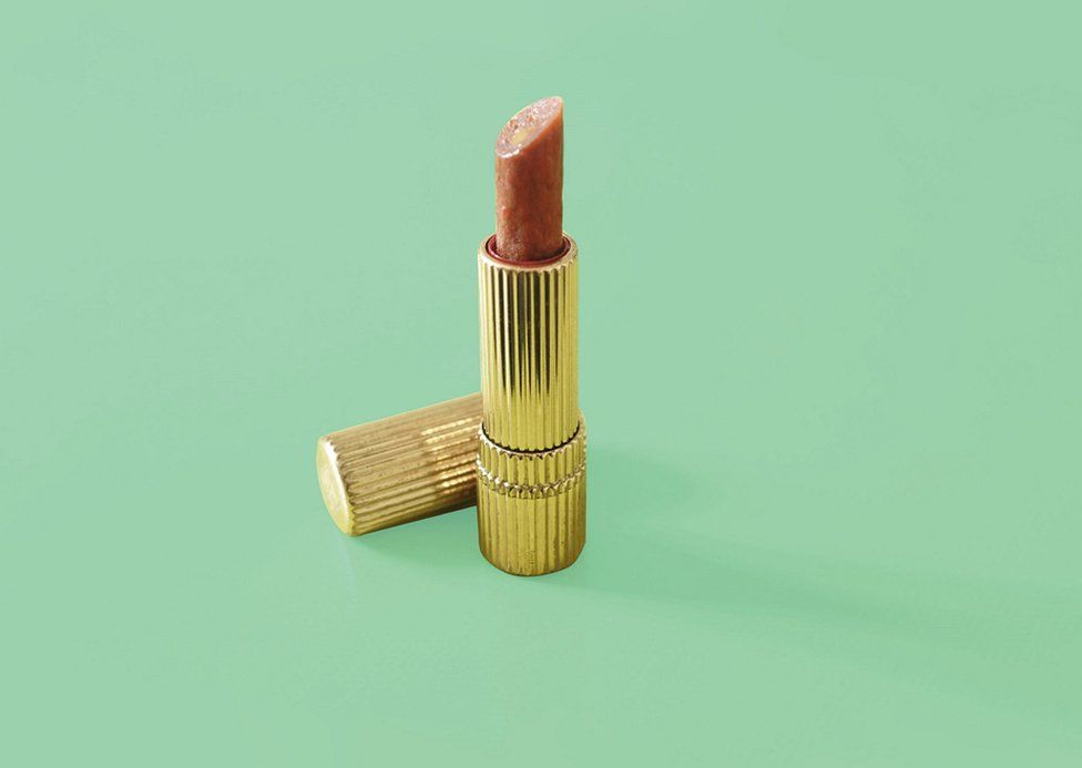 A lipstick made from a food product