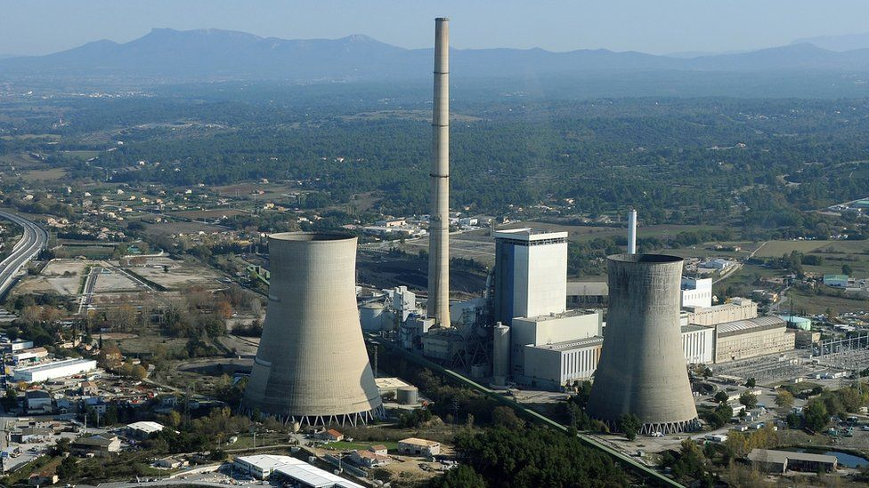 A coal-powered power station