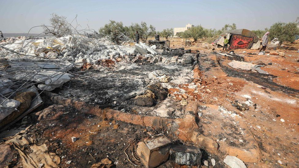 The reported site, in the north-western Syrian province of Idlib, of a raid by US special forces commandos targeting Islamic State group leader Abu Bakr al-Baghdadi (27 October 2019)
