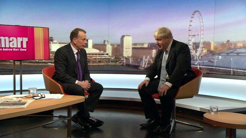 Boris Johnson on Andrew Marr Show