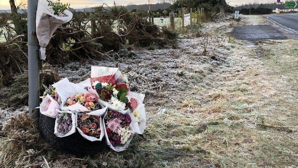 Floral tributes to Gregor McIntosh