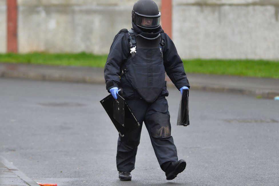 Security alert and searches in Conway Street, Belfast, on 21 February 2017