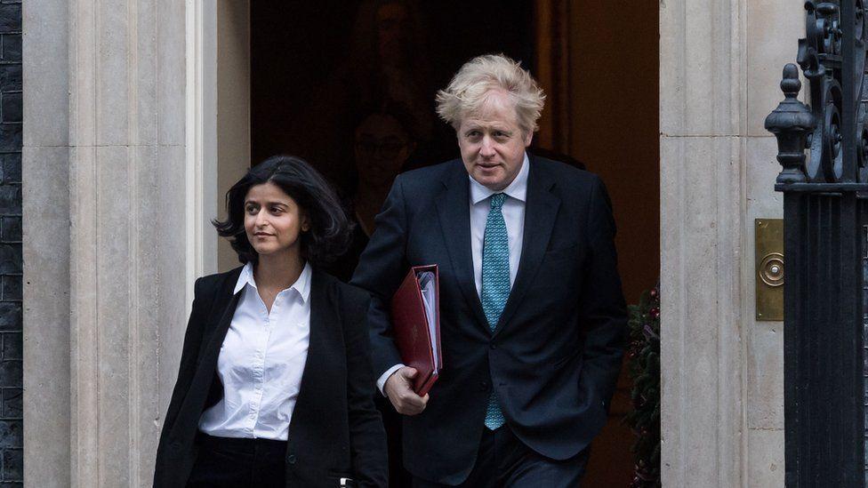 Munira Mirza and Boris Johnson