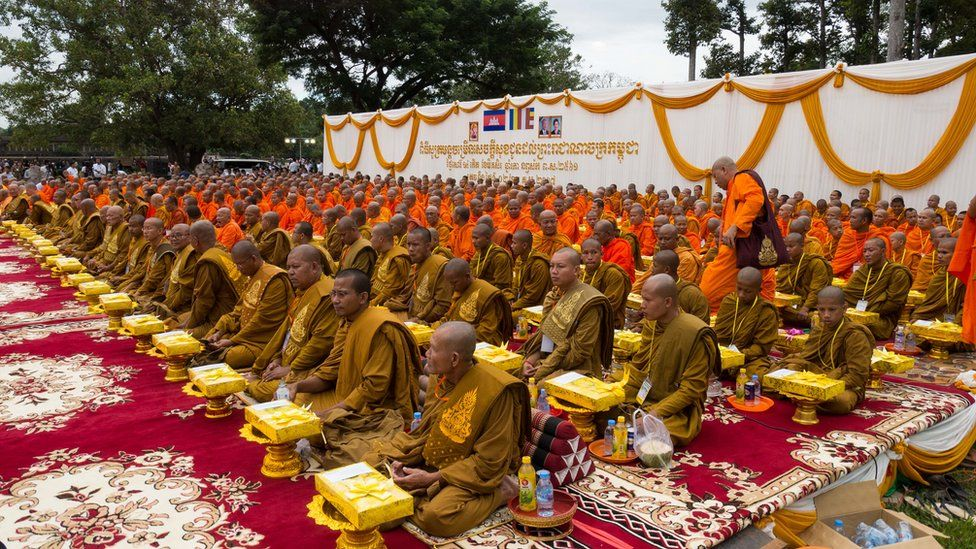 Buddhist monks at the event