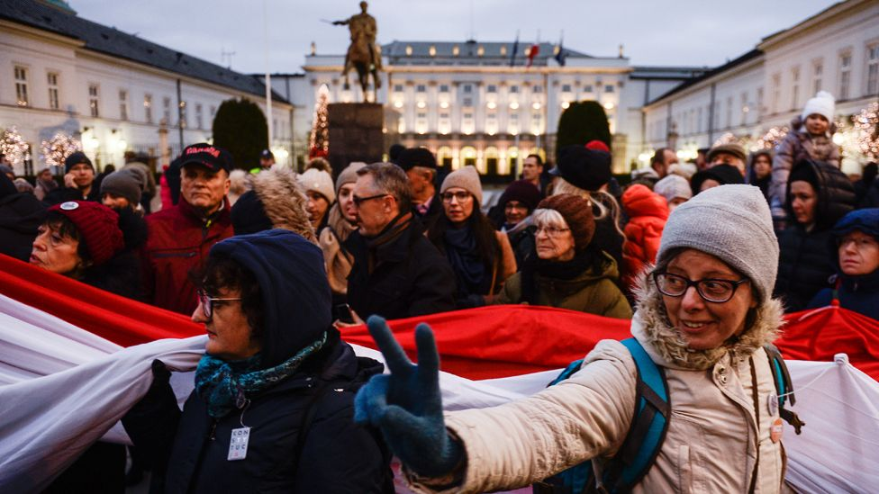 March against judicial reforms in Warsaw, 11 Jan 20