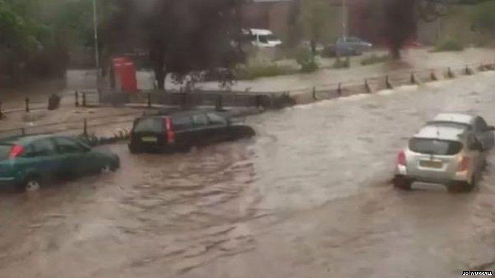 Flooding in Alyth