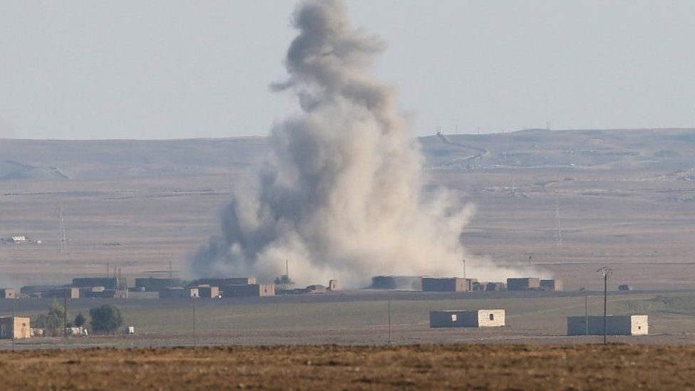 Attack on IS position in Syria
