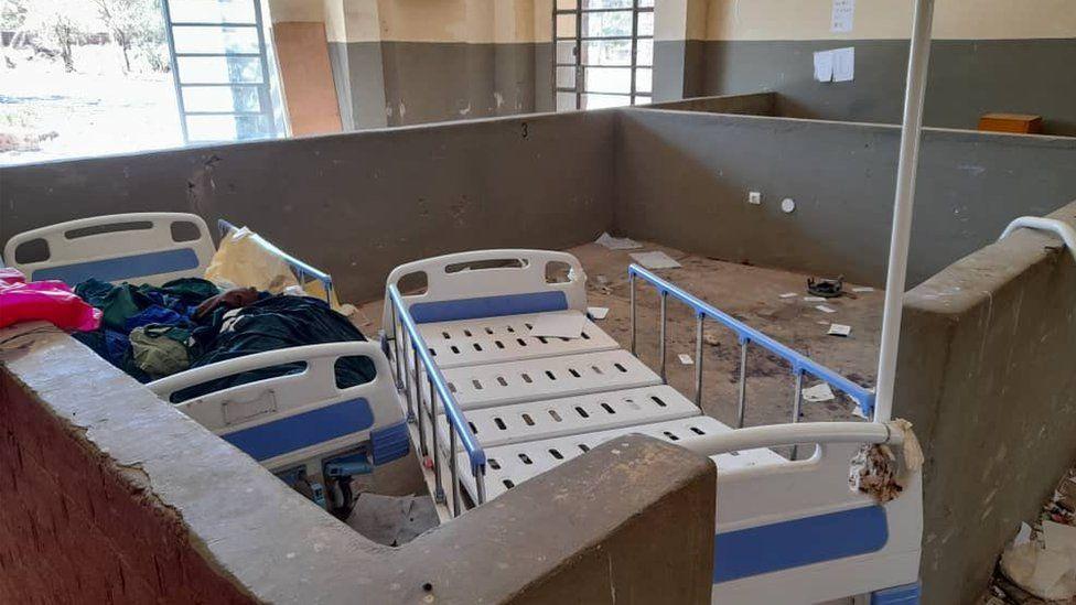 vandalised hospital