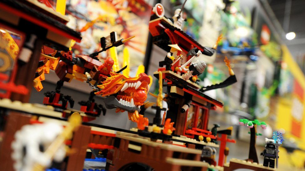 The Lego Ninjago set is displayed at the Toy Fair 2011 on 15 February 2011 at the Javits Center in New York.