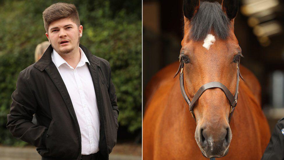 Scott Spurling and police horse Quantock