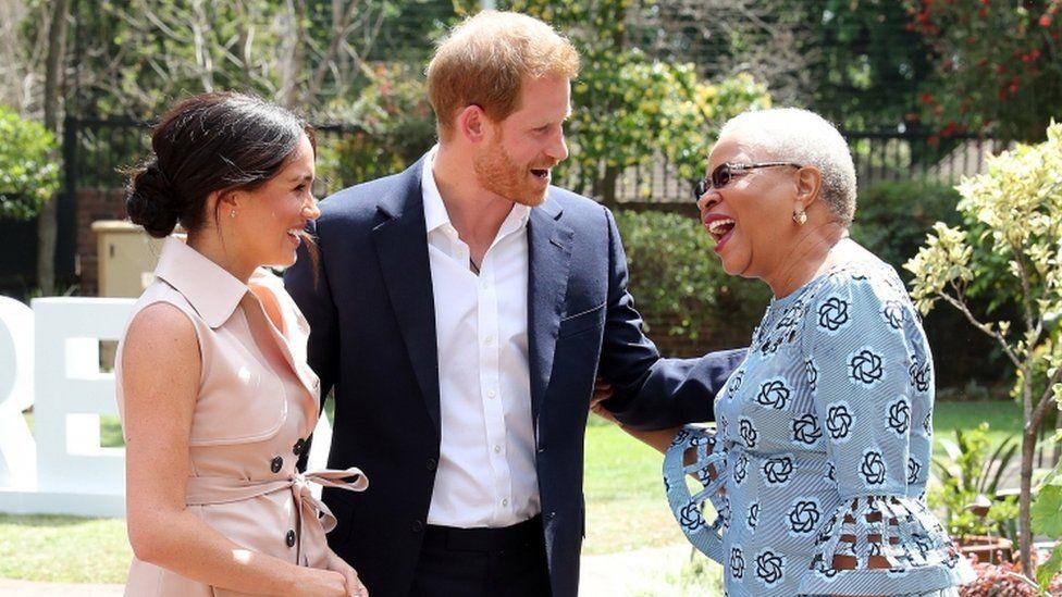 The duke and duchess met Graca Machel
