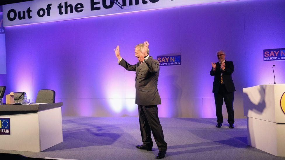 Nigel Farage at the UKIP conference