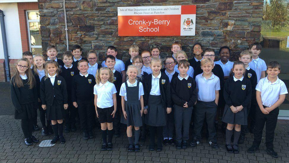 Pupils at Cronk y Berry Primary School in Douglas