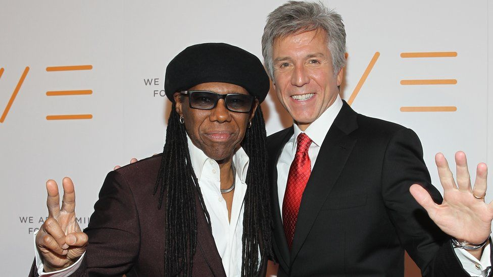 Bill McDermott and Chic singer Nile Rodgers