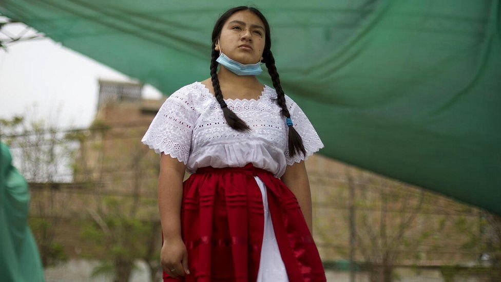 A teenager from Peru